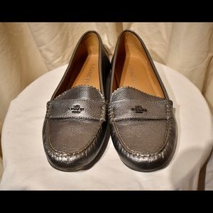 """Shoes """"Coach"""" Slip on Loafers Leather"""